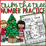 Addition and Counting Number Practice for Christmas