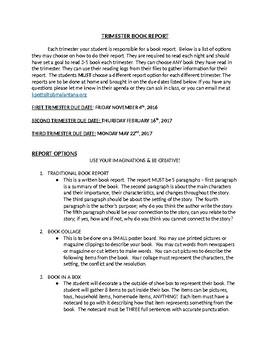 Trimester Book Reports