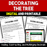 Trimming the Tree:  Decimal Multiplication Freebie - 5th and 6th Grade