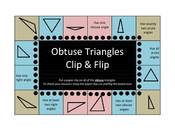 Triangles Clip and Flip boards (self checking)