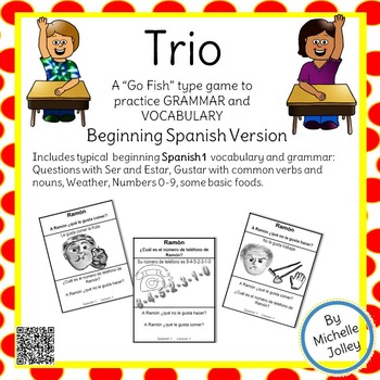 Spanish 1 Lesson 1 -- Trio Card Game