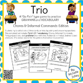 Spanish Commands, Chores, Ir a + Inf., Acabar de + Inf. Trio Card Game: