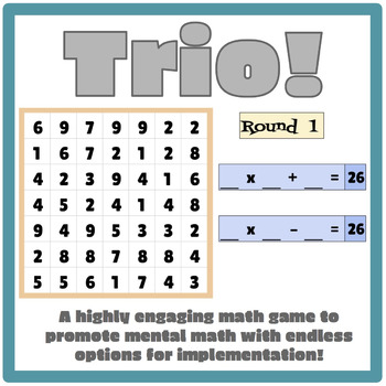Trio! Making Math Facts Fun