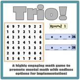 Trio! Making Math Facts Fun