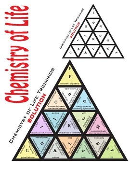 Triominos Puzzle ~CHEMISTRY OF LIFE REVIEW~ Biology