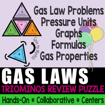 Triominos Puzzle ~GAS LAWS REVIEW~ Chemistry