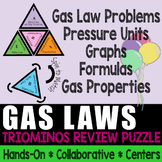 Triominos Puzzle ~GAS LAWS REVIEW~ Chemistry ~FREEBIE~