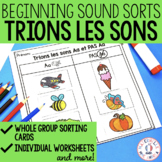 Trier les sons de l'alphabet - FRENCH Alphabet Beginning Sound Sorts