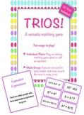 Trios! 16 Math Matching Games