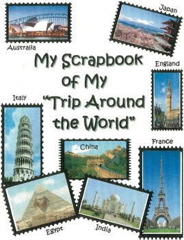 Trip Around the World Scrapbook Cover