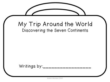 Trip Around the World Seven Continents Suitcase Journal