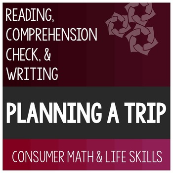 Trip Planning Article- Consumer Math Special Education