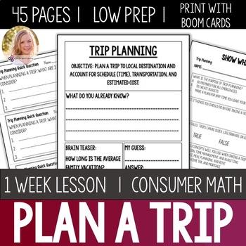 Trip Planning Bundle- High School Special Education