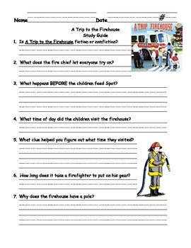 Trip To The Firehouse Assessments