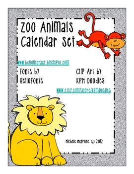 Trip To The Zoo Calendar Set