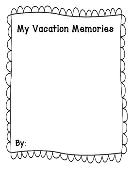 Trip/Vacation/Holiday Memory Book: Pages for Drawing & Writing about Experiences