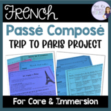 French passé composé speaking and writing project for PowerPoint