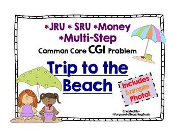 Trip to the Beach Common Core Math CGI Problem - JRU SRU M