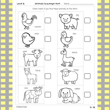 Trip to the Farm Grades 1-2 Activity Pack
