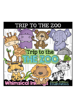 Trip to the Zoo Clipart Collection