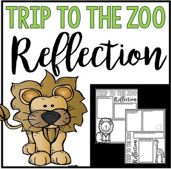 Trip to the Zoo Reflection - Poster or Journal Project