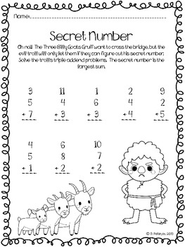 Triple Addend Fairy Tale Fun: Addition with Three Addends