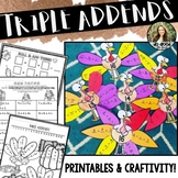 Triple Addends ~ Turkey Style! > Add Three with Printables