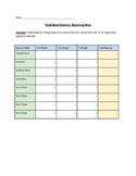 Triple Beam Balance Measurement Worksheet