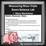 Measuring Mass Lab -- Metric System Lab and Worksheet