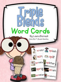 Triple Blends Word Cards