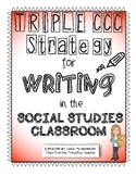 Triple CCC Strategy for Writing in Social Studies