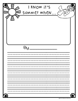 Summer Writing Packet {My Monthly FREEBIE}