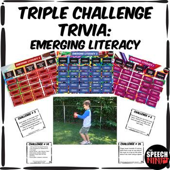 Triple Challenge Trivia: Emerging Literacy