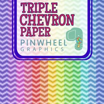 Triple Chevron Pastel Rainbow-Digital Paper Background