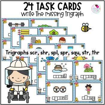 Trigraphs Write the Room SCR, SHR, SPL, SPR, SQU, STR, THR Blends