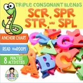 Triple Consonant Blends scr-, str-, spr-, spl- ~Phonics~ Activity Pack