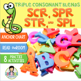Triple Consonant Blends scr-, str-, spr-, spl- ~Phonics~ A