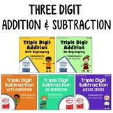 Triple Digit Addition And Subtraction Worksheets With Answer Keys