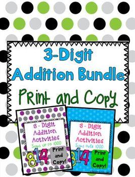 Triple Digit Addition Bundle