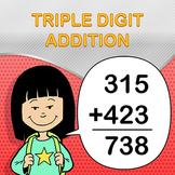 Triple Digit Addition Worksheet Maker - Create Infinite Math Worksheets!