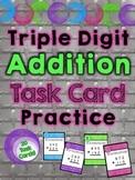 Triple Digit Addition Task Card Practice
