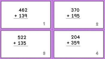 Triple Digit Addition Task Cards