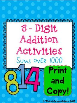 Triple Digit Addition With Sums Over 1000