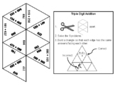 Triple Digit Addition With and Without Regrouping Game: Math Tarsia Puzzle