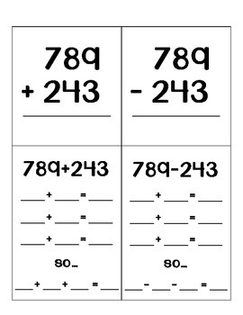 Triple Digit Addition and Subtraction