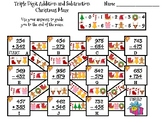 Triple Digit Addition and Subtraction Christmas Math Maze