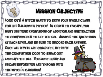Triple Digit Addition and Subtraction W & W/O Regrouping: Halloween Escape Room
