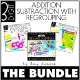 Triple Digit Addition and Subtraction With Regrouping {THE