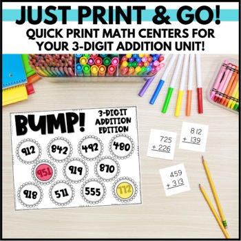 A Touch of Triple Digit Addition - An Activity Pack