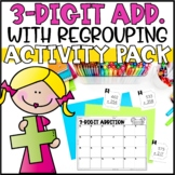 Triple Digit Addition Activities - Task Cards, Word Problems & Partner Game